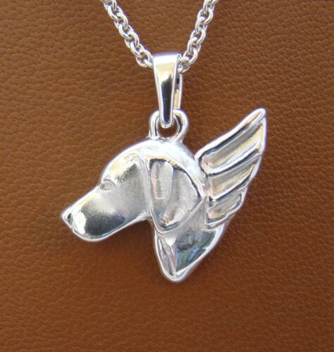 Small Sterling Silver Vizsla Angel Pendant