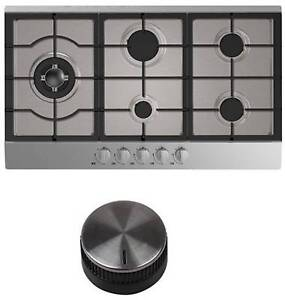 UNIVERSAL 5 BURNER 90cm STAINLESS STEEL GAS COOK TOP BRAND NEW Kogarah Rockdale Area Preview