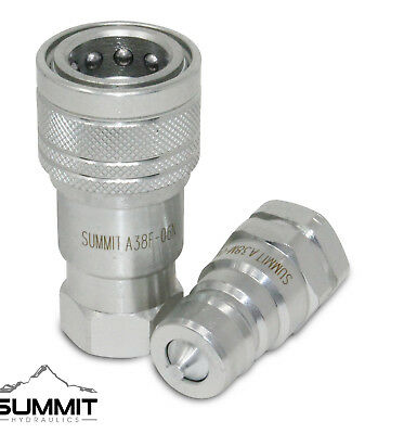 38 Npt Iso 7241-a Quick Disconnect Hydraulic Coupler Set