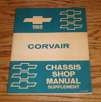 Original 1969 Chevrolet Corvair Chassis Shop Manual Supplement 69 Chevy ()