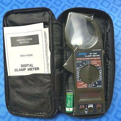 New Cen-tech Dc 1000v Ac 750v Digital Clamp Meter Multimeter Dt-266 Tester