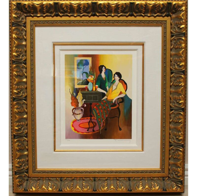 """Relaxing Evening"" By Itzchak Tarkay a Limited Edition, Beautifully Framed!!!"