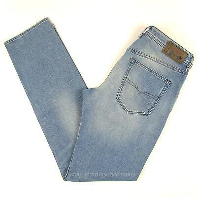 Diesel Men's Jeans BUSTER Regular Slim SIZE 29 x 32 LIGHT BLUE MSRP $188.00 NWT