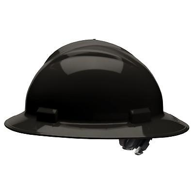 Bullard Full Brim Hard Hat with 4 Point Ratchet Suspension, Black