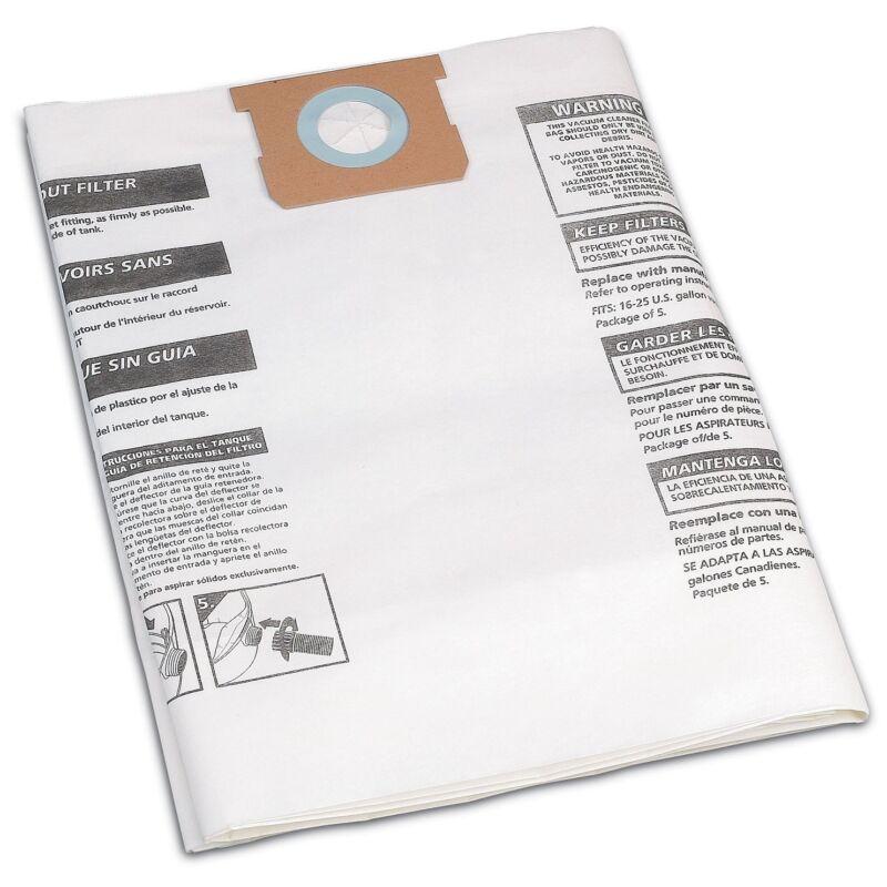 Shop-Vac 906-63-6 Disposable Collection Filter Bags for 16-22 Gallon Vacs