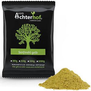 1 kg Senfmehl gelb teilentölt zur Senfherstellung Senfkörner gemahlen Senfpulver