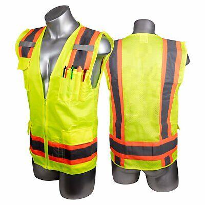 New - High Visibility Yellow Safety Surveyor Vest