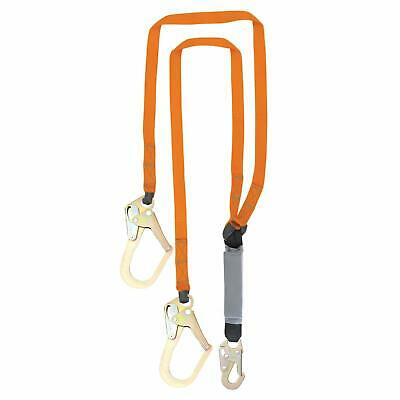 Malta Dynamics Fall Protection Six-foot Double Leg Shock Absorbing Lanyard
