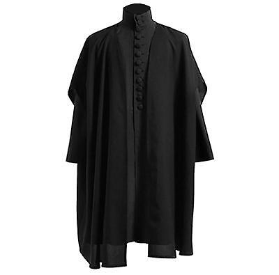 Dark Professor Severus Snape Cosplay Costumes Black Capes Jacket For Halloween# - Capes For Halloween