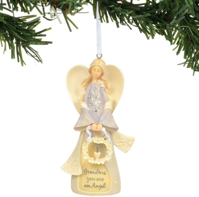 Enesco Foundations Grandmother Angel Ornament