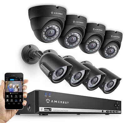 Amcrest 960H HD 8CH 1TB DVR Security Camera System- 800TVL (REFURBISHED)