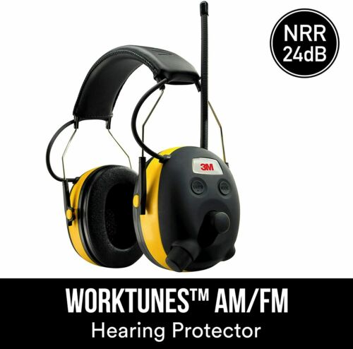 3M WorkTunes Hearing Protector with AM/FM Radio New See Details