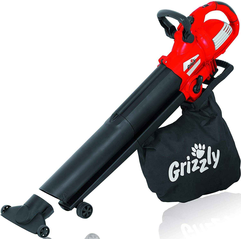 Grizzly Tools Elektro Laubsauger ELS 3000, 3in1, Blasen, Saugen, Häckseln, 3000W