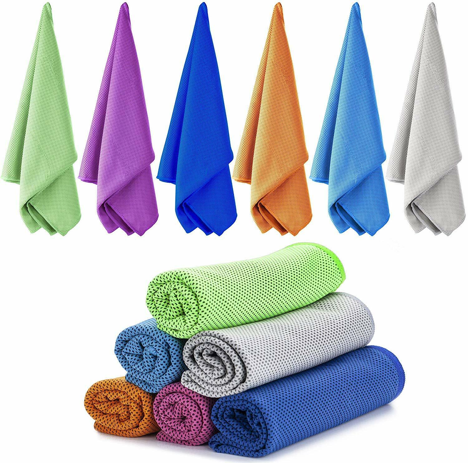 6pk Microfiber Cooling Towels Absorbent Sports Gym Workout T