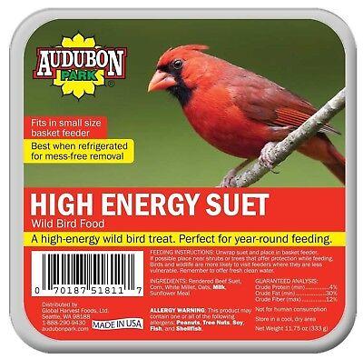 Audubon Park 1845 High Energy Suet Cake Wild Bird Food, 11.75 Oz