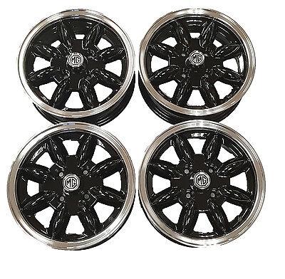 Morris Minor Black Minilight Alloy Wheels
