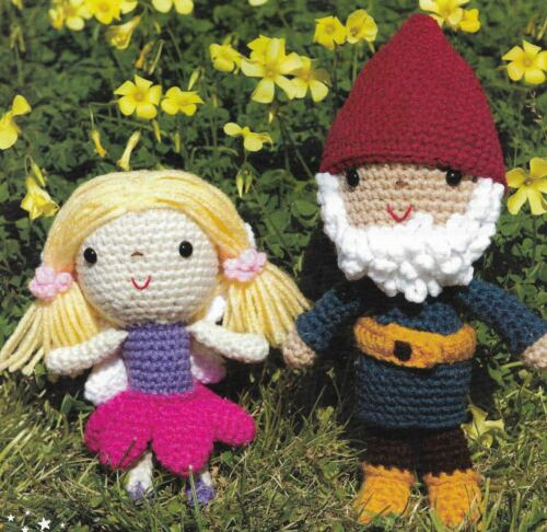 2 FAIRY & GNOME DOLLS TOY CROCHET PATTERN INSTRUCTIONS