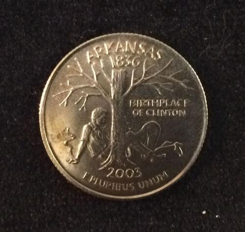 "Arkansas 2003 Parody Quarter ""Birthplace Of Clinton"" with Cigar *FUNNY* *RARE*"