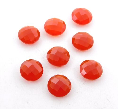 24 Cts 8Pc Natural Red Onyx Round Cut Lot Loose Gemstone For Jewelry 10 MM G-289