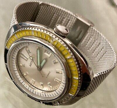 Orologio automatico ARTEN SQUALE case 50mm vintage diver Swiss Made FELSA 4007n