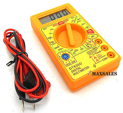 Digital Multi Tester Electrical Dc Ac Ohm Volt Amp Testing Precision Multimeter