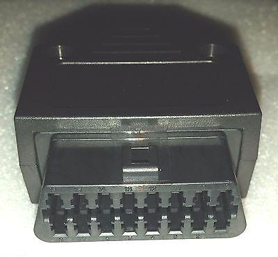 Soldered 16 Pin OBD 2 II Plug Socket - for Car Diagnostic Tool Repair