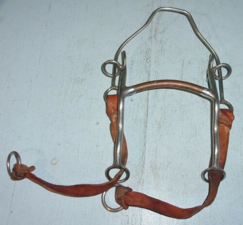 """Trammell Copper Mullen Mouth Hackamore Gag Bit Wire Nose 5"""" Mouth Horse Tack"""