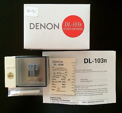 BRAND NEW DENON DL-103R EQUAL L/R CHANNEL MOVING COIL MC PHONO CARTRIDGE DL103R