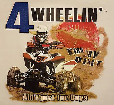 4 WHEELIN' AIN'T JUST FOR BOYS 4 WHEELER GIRLS HOODED SWEATSHIRT #62 - 4 Wheelers For Girls