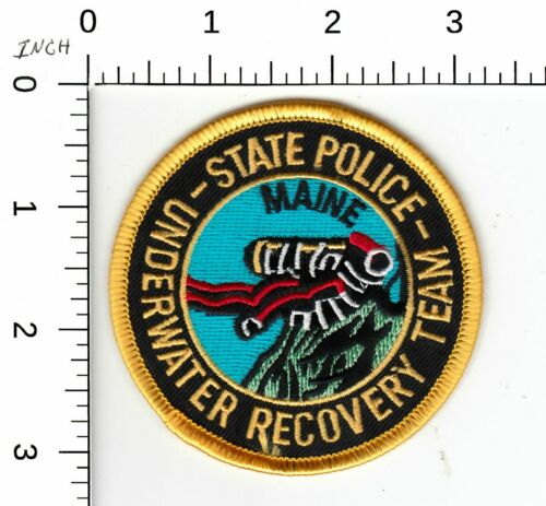 MAINE STATE POLICE UNDERWATER RECOVERY POLICE PATCH ME
