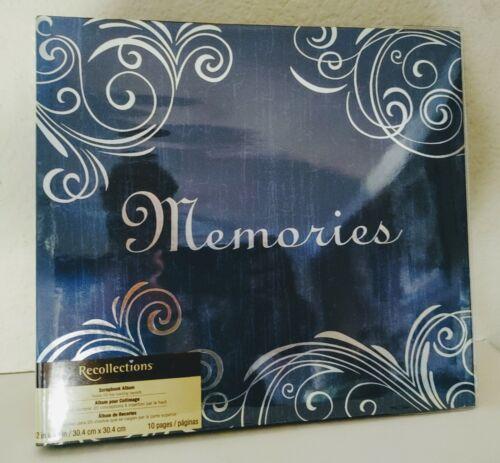 "Michaels Recollections Blue w Silver Script ""Memories"" Scrapbook Album New"
