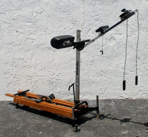 Vintage NordicTrack Pro Skier Oak, Chrome and Steel with BC-886 II Computer