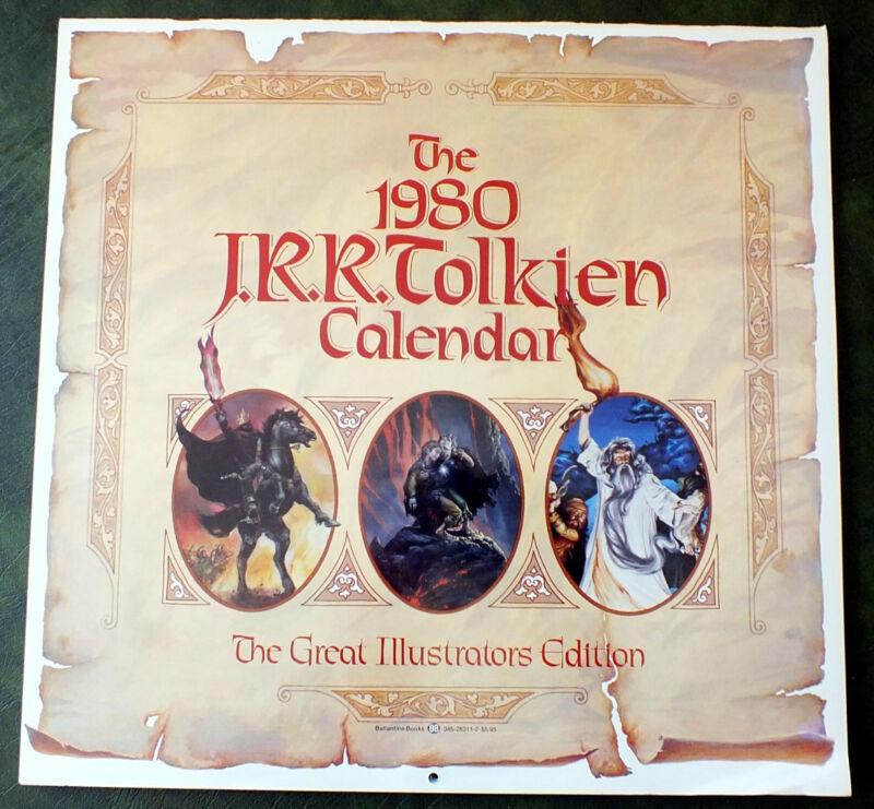 JRR Tolkien 1980 Calendar Good Condition - Ballantine Books (C)1979 First Ed.
