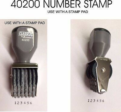 - Xstamper Classix Self-inking Stamp - Date Stamp - Black - NEW  1each (40200)
