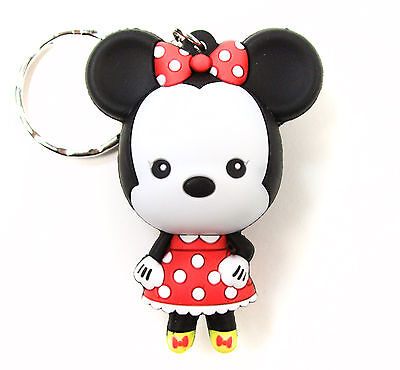 Disney 3D Figural Keyring Series 1 MINNIE MOUSE KEYCHAIN Opened Blind Bag NEW