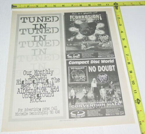 No Doubt Gwen Stefani Concert AD Advert 1996 Tour Convention Hall Asbury Park NJ