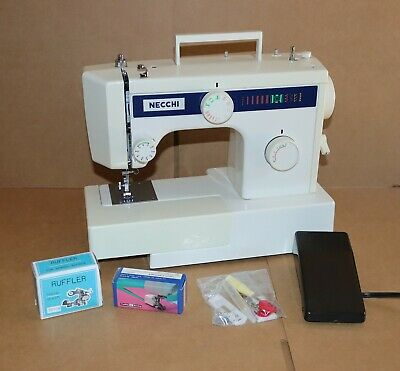 Necchi Sewing Machine Model 3101 Fa Leather Upholstery Heavy Duty