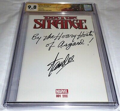 Doctor Strange #1 CGC SS Signature Autograph Custom Quote Inscription STAN LEE