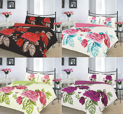 Isabella Rose Floral Luxurious Duvet Covers Quilt Covers Reversible Bedding Sets