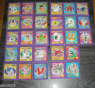 Digimon 28 verschiedene Sticker zum Sammeln Gatomon Agumon Patamon Gabumon Set