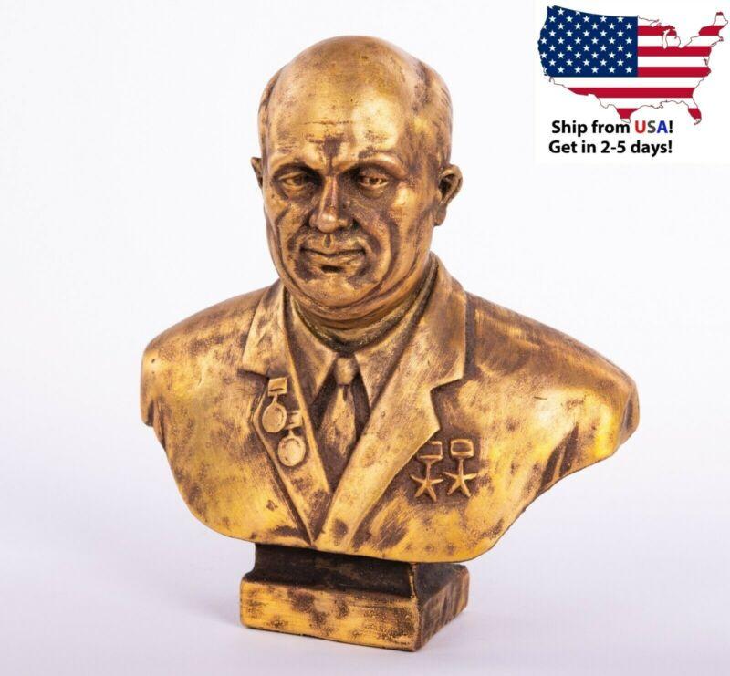 "6"" Khrushchev bust Russian Communist leader USSR Soviet statue"