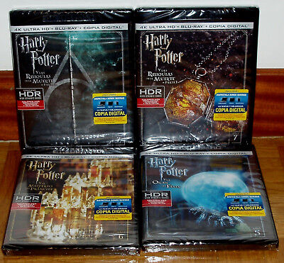 Harry Potter-Year 7-PARTE 1-2 + Year 6+ 5-4K Ultra HD + Blu-Ray New 8 Discs R2