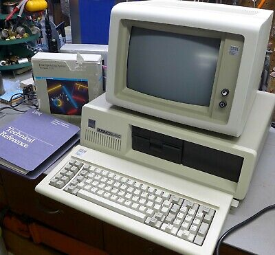 Vintage IBM 5150 Computer System - PC, Monitor, Keyboard, SW, Manuals - Mint