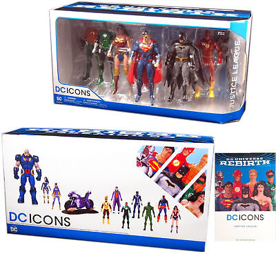 Used, DC Icons Justice League 7 Pack Action Figure Set  NEW for sale  Shipping to India