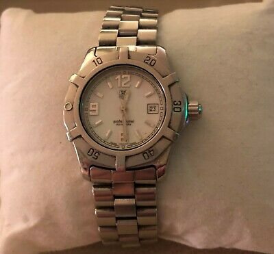 Ladies Tag Heuer Silver Watch with White Dial - As mint condition