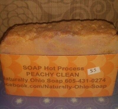 handmade body bar soap peachy clean using the best ingredients