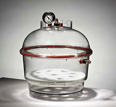 Azzota Round Vacuum Desiccator With Vacuum Gauge Dia 10 10l