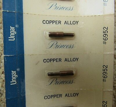 2- 6952 Ungar Princess Copper Alloy Thread In Slanted Soldier Tips New In Pack