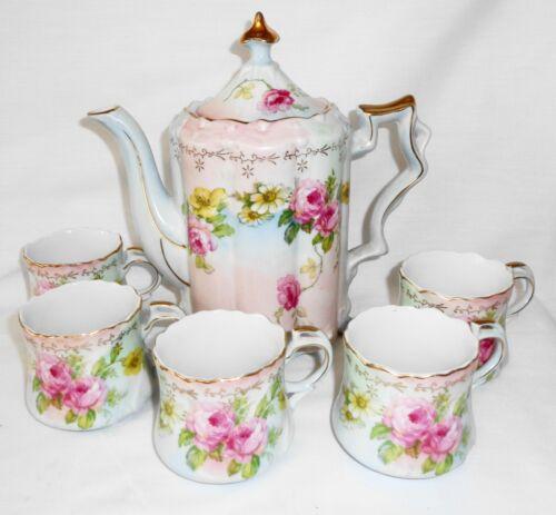 R S Chocolate Set Pot W/ 5 Cups