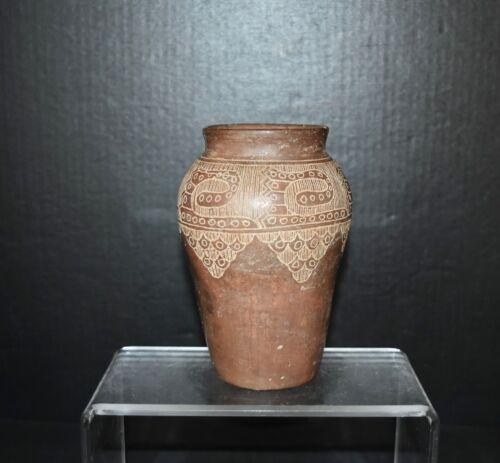 Pre-Columbian Larger mouth vessel Inca culture clay vessel